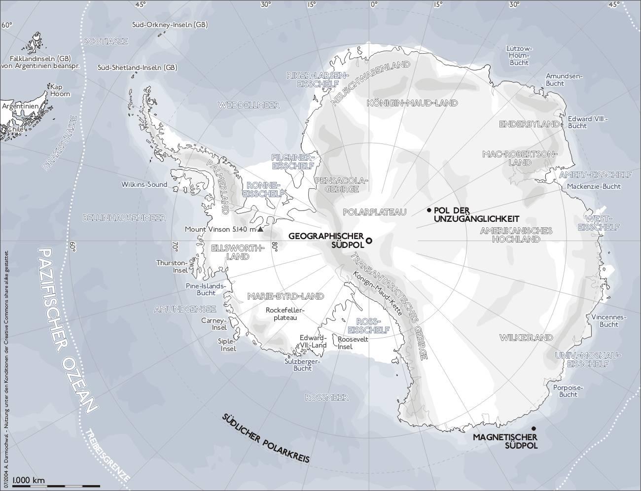 Karte der Antarktis (CC BY-SA 2.0)